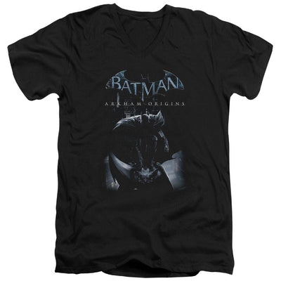 Batman - Arkham Perched Cat Men's V-Neck T-Shirt