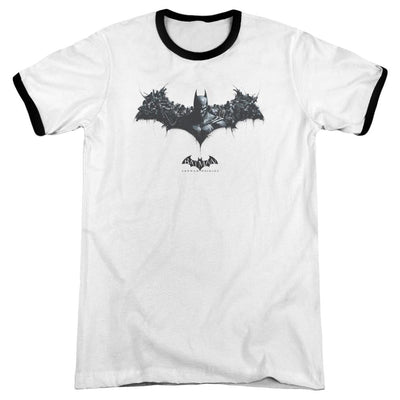 Batman - Arkham Bat Of Enemies Men's Ringer T-Shirt
