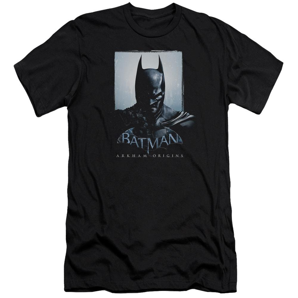 Batman Arkham Origins Two Sides Premium Adult Slim Fit T-Shirt