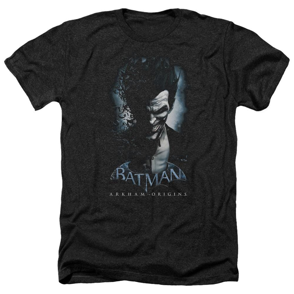 Batman Arkham Origins - Joker Adult Regular Fit Heather T-Shirt