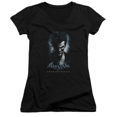 Batman - Arkham Joker Juniors V-Neck T-Shirt
