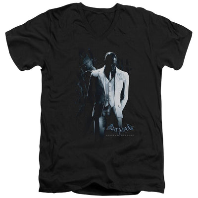 Batman - Arkham Black Mask Men's V-Neck T-Shirt