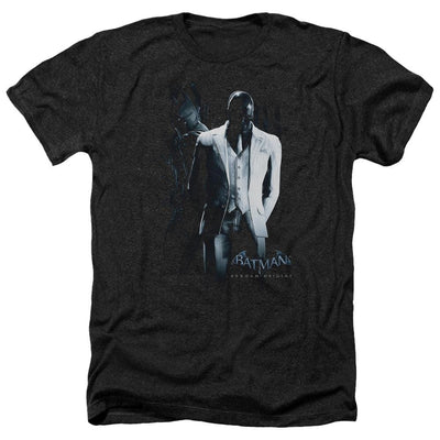 Batman - Arkham Black Mask Men's Heather T-Shirt
