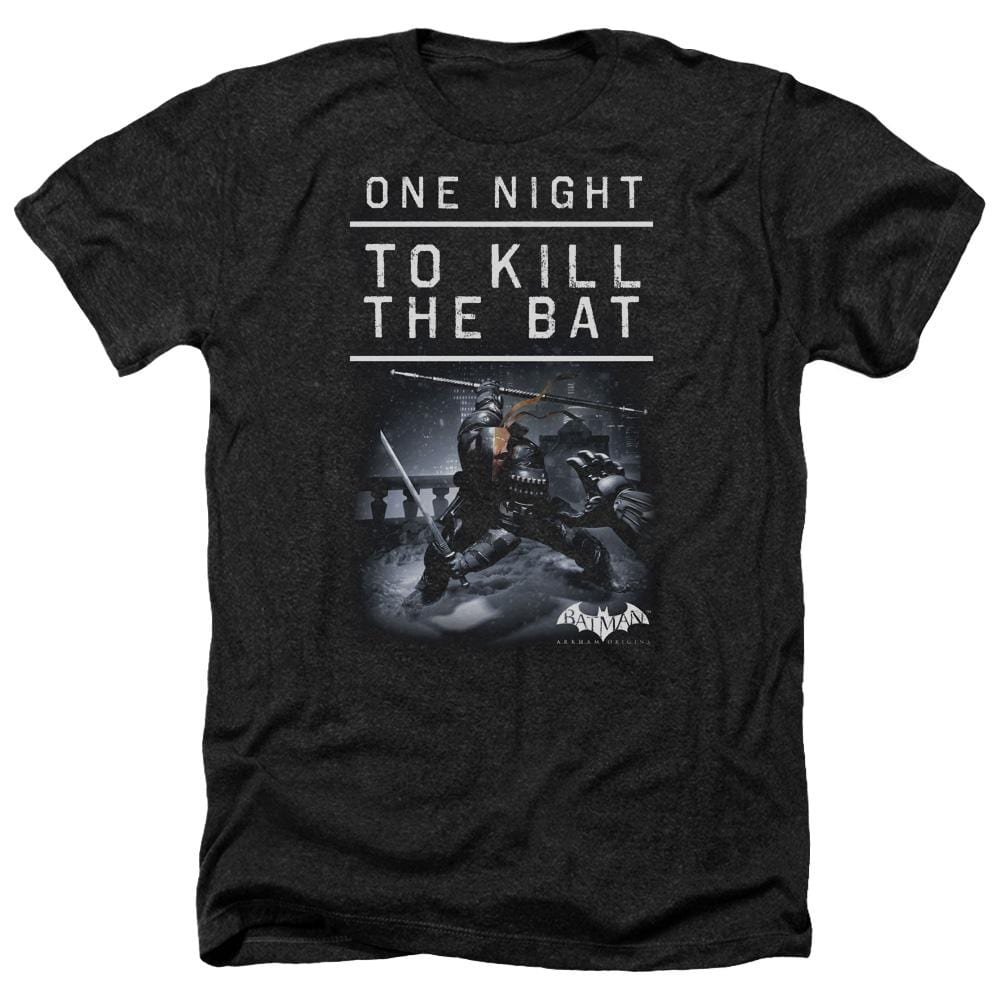 Batman Arkham Origins - One Night Adult Regular Fit Heather T-Shirt