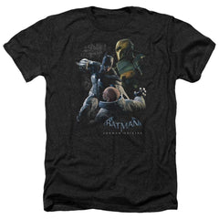 Batman Arkham Origins - Punch Adult Regular Fit Heather T-Shirt