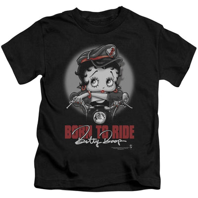 Betty Boop Born To Ride Kid's T-Shirt (Ages 4-7)