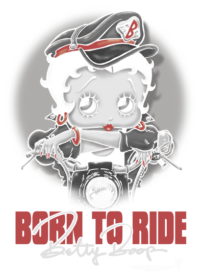 Betty Boop Born To Ride Juniors T-Shirt