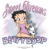 Betty Boop Sweet Dreams Juniors V-Neck T-Shirt