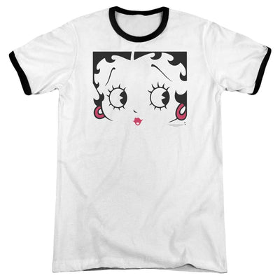 Betty Boop Close Up Men's Ringer T-Shirt