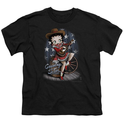Betty Boop Country Star Youth T-Shirt (Ages 8-12)