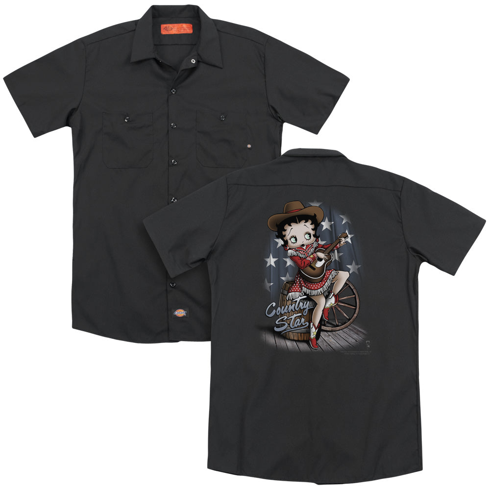 Betty Boop - Country Star Adult Work Shirt