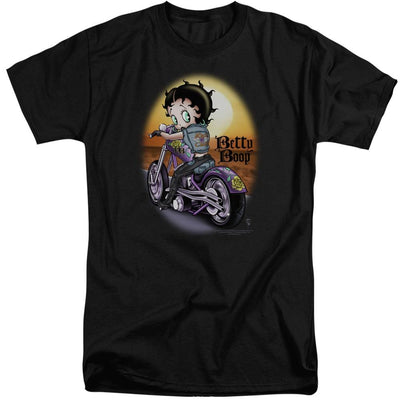 Betty Boop Wild Biker Men's Tall Fit T-Shirt