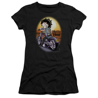 Betty Boop Wild Biker Juniors T-Shirt