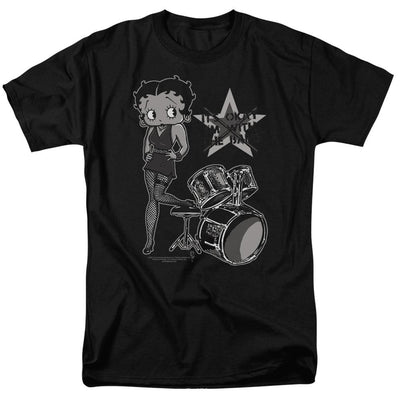 Betty Boop With The Band Men's Regular Fit T-Shirt