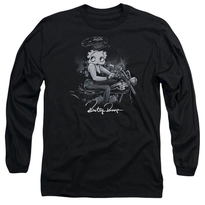 Betty Boop Storm Rider Men's Long Sleeve T-Shirt