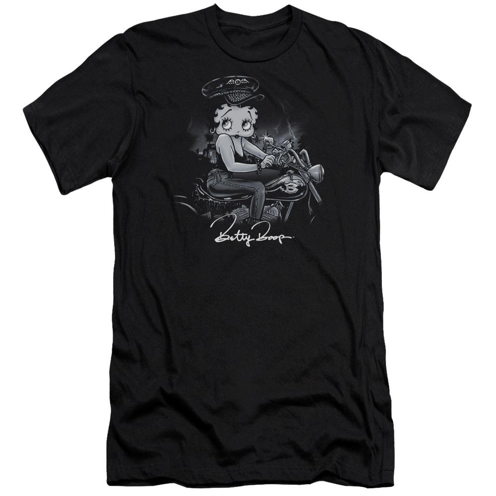 Betty Boop Storm Rider Premium Adult Slim Fit T-Shirt