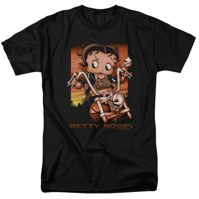 Betty Boop Sunset Rider Men's Regular Fit T-Shirt