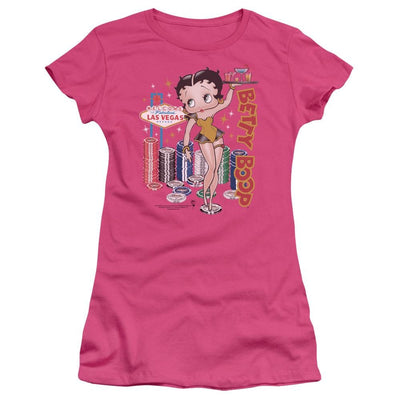 Betty Boop Wet Your Whistle Juniors T-Shirt