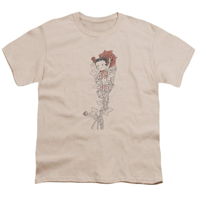 Betty Boop Thorns(left Side Print) Youth T-Shirt (Ages 8-12)