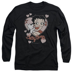 Betty Boop - Classic Kiss Adult Long Sleeve T-Shirt