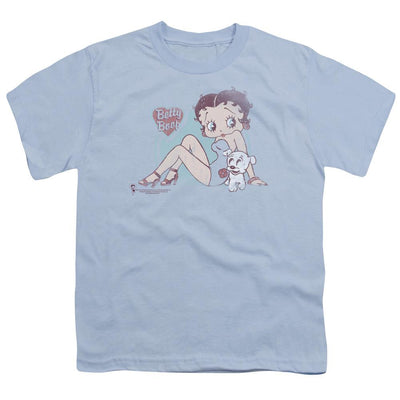 Betty Boop Vintage Pin Pup Youth T-Shirt (Ages 8-12)