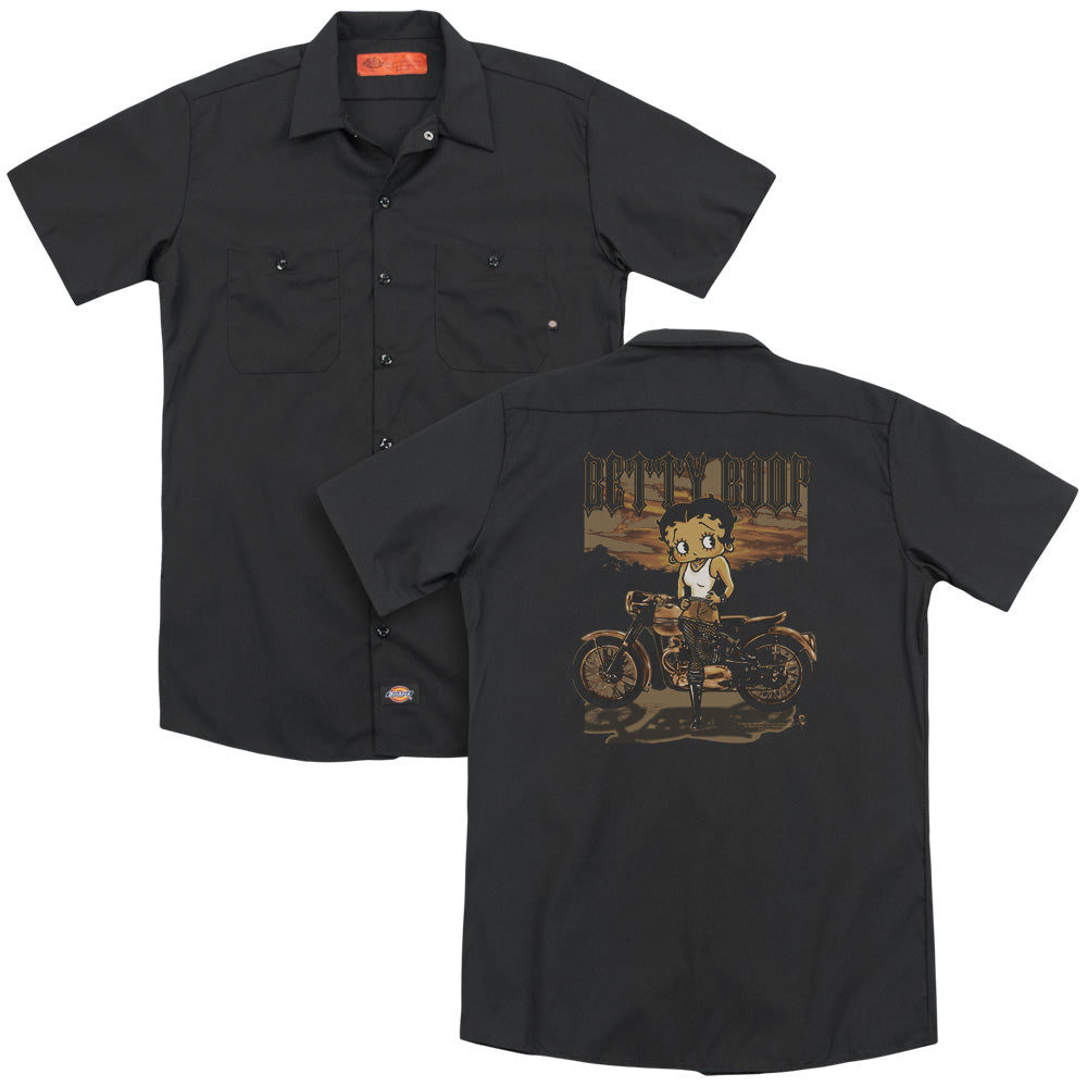 Betty Boop - Rebel Rider Adult Work Shirt