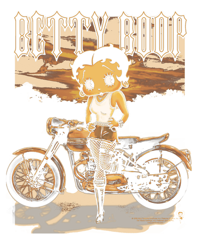 Betty Boop Rebel Rider Youth T-Shirt (Ages 8-12)