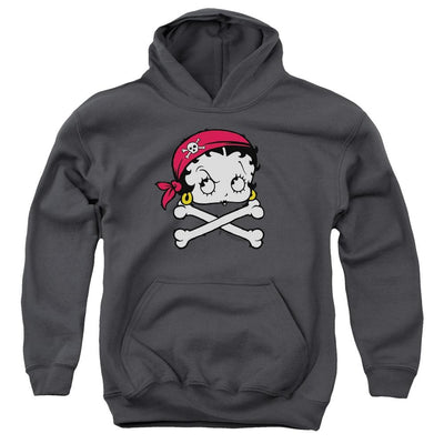 Betty Boop Pirate Youth Hoodie (Ages 8-12)