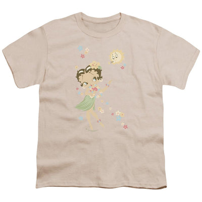Betty Boop Hula Flowers Youth T-Shirt (Ages 8-12)