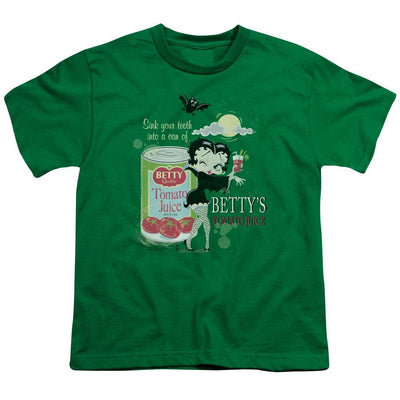 Betty Boop Vampire Tomato Juice Youth T-Shirt (Ages 8-12)