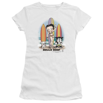 Betty Boop Surfers Juniors T-Shirt