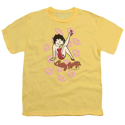 Betty Boop Kisses Youth T-Shirt (Ages 8-12)