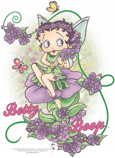 Betty Boop Flower Vine Fairy Men's Regular Fit T-Shirt