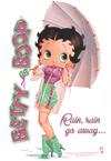Betty Boop Rain Rain Go Away Women's T-Shirt