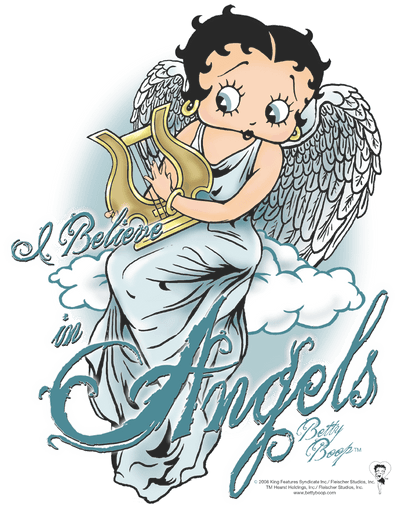 Betty Boop I Believe In Angels Men's Regular Fit T-Shirt