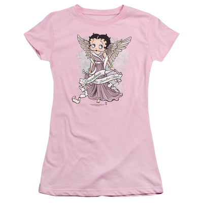 Betty Boop Grandma Guardian Angel Juniors T-Shirt