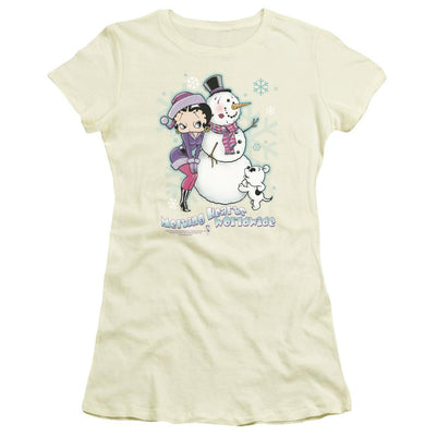 Betty Boop Melting Hearts Juniors T-Shirt
