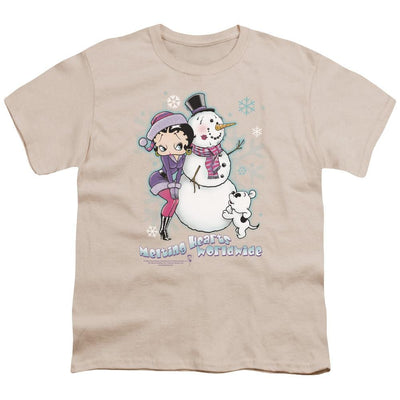 Betty Boop Melting Hearts Youth T-Shirt (Ages 8-12)