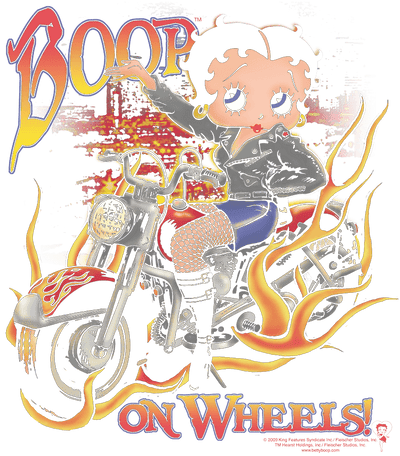 Betty Boop On Wheels Youth T-Shirt (Ages 8-12)