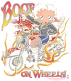 Betty Boop On Wheels Kid's T-Shirt (Ages 4-7)