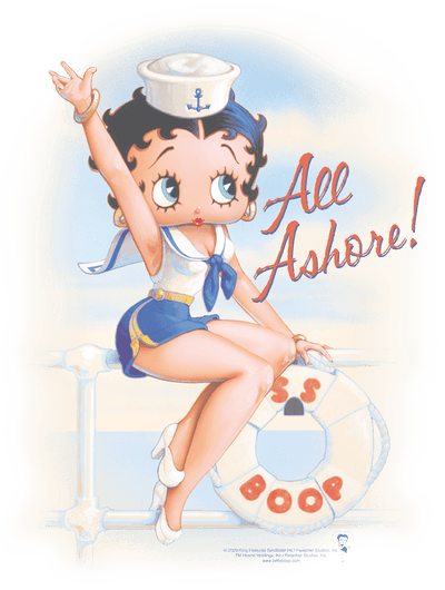Betty Boop All Ashore Juniors T-Shirt