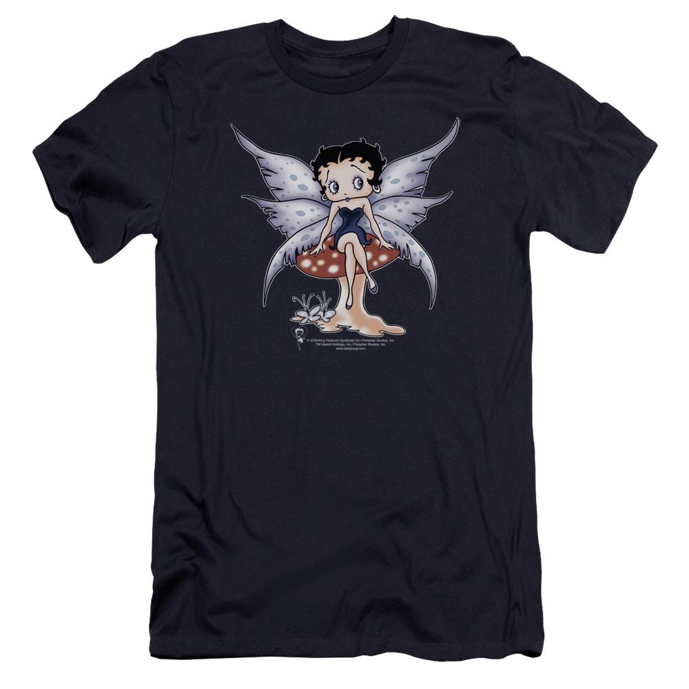 Betty Boop Mushroom Fairy Premium Adult Slim Fit T-Shirt