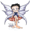 Betty Boop Mushroom Fairy Juniors T-Shirt