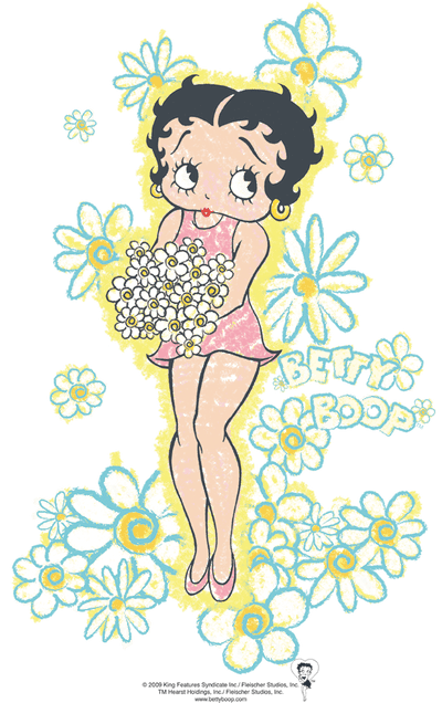 Betty Boop Flowers Men's Regular Fit T-Shirt