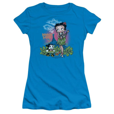 Betty Boop Polynesian Princess Juniors T-Shirt