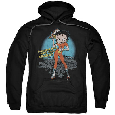 Betty Boop Fries With That Pullover Hoodie