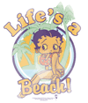 Betty Boop Lifes A Beach Men's Regular Fit T-Shirt