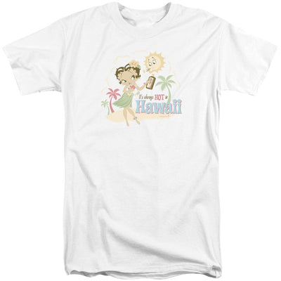 Betty Boop Hot In Hawaii Men's Tall Fit T-Shirt