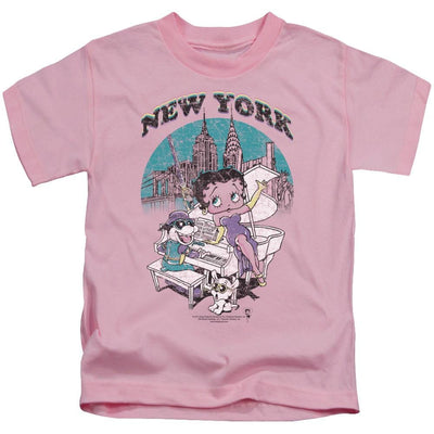 Betty Boop Singing In Ny Kid's T-Shirt (Ages 4-7)