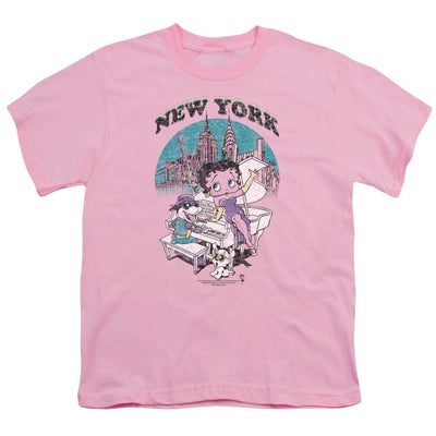 Betty Boop Singing In Ny Youth T-Shirt (Ages 8-12)